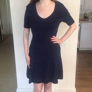 Ann Taylor Navy Blue Fit and Flare